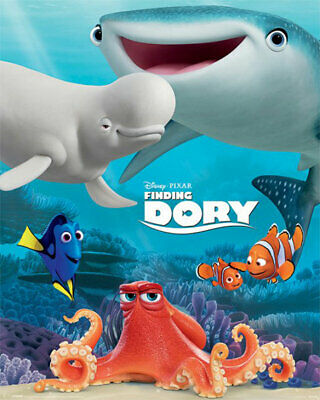 findet dorie friend group finding dory disney kino miniposter 40x50 cm