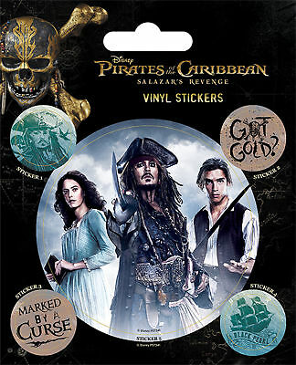 Pirates of the Caribbean- Captain Jack Sparrow - Stickerset Aufkleber 10x12,5 cm