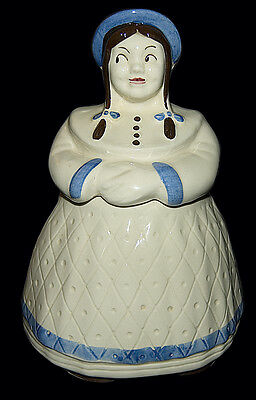 Shawnee Great Northern Dutch Girl Cookie Jar with Blue Trim and Hat
