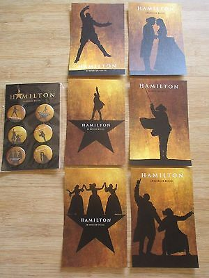 NEW Hamilton Broadway Musical OFFICIAL 6 BUTTONS 6 Six POSTCARD SET OFFICIAL