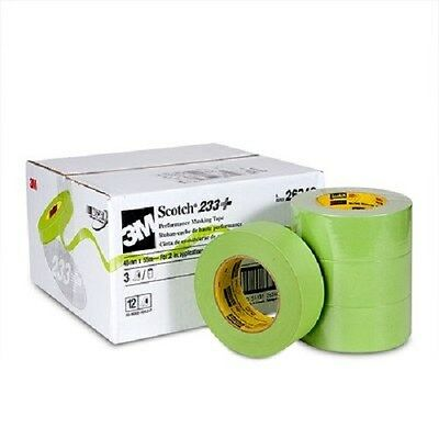 3M 26340 2'' Scotch Performance Masking Tape 233+ Green 3 Rolls Made in USA