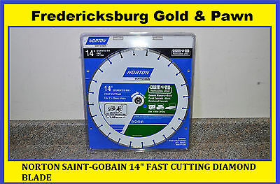 "Norton Saint-Gobain 14"" Fast Cutting Diamond Blade. Brand New, Sealed!!!"