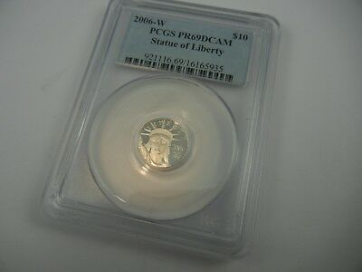 2006-W US $10 Platinum Statue of Liberty PR69DCAM PCGS