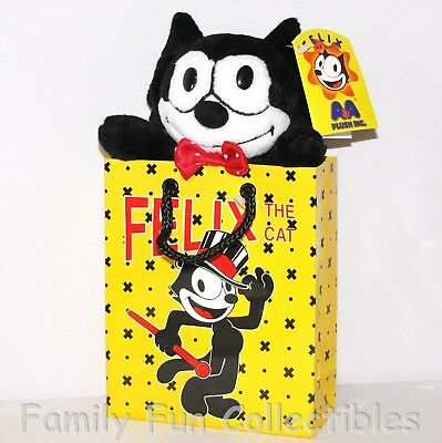 FELIX THE CAT~1990s AA Plush~Gift Bag Doll~Tricks~Stuffed Toy Figure~B~NEW NOS