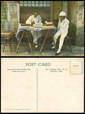 China Vintage Postcard Chinese Future Fortune Teller Shanghai Old City, Chinaman