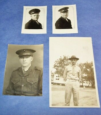 LOT OF 4 ORIGINAL 1920's - 1930's PHOTOS OF YOUNG MARINES