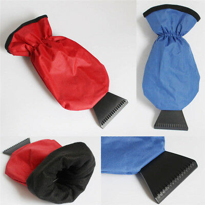 1x New Ice Scraper Mitt Car Windshield Snow Scrapers With Waterproof Glove Lined