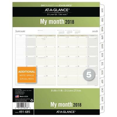 AT-A-GLANCE Day Runner Monthly Planner Refill, January 2018 - December 2018,...