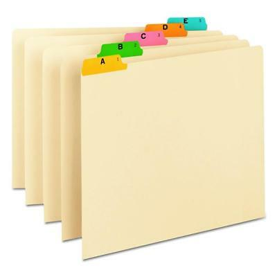 Smead 50180 Recycled Top Tab File Guides, Alpha, 1/5 Tab, Manila, Letter...