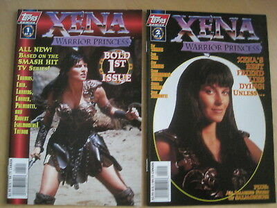 XENA , WARRIOR PRINCESS : COMPLETE 2 ISSUE TOPPS 1997 SERIES with PHOTO COVERS