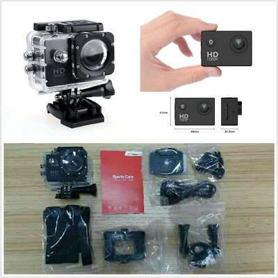 Mini Action Camera 12MP Waterproof Underwater Camera LCD Screen Sports Camcorder
