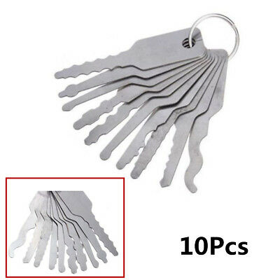 10X Emergency Truck SUV Car Door Access Opening Easy Tool Keys Silver Universal