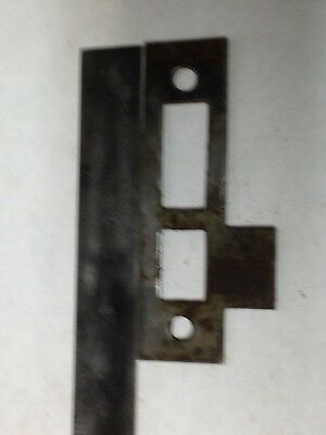 Antique Vintage  Door Mortise Lock Strike Plate Keeper Latch Part