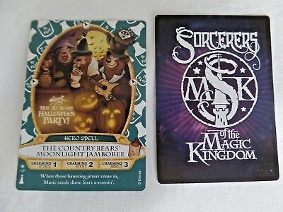 Sorcerer of the Magic Kingdom Card Country Bears Halloween Party 2017 NEW