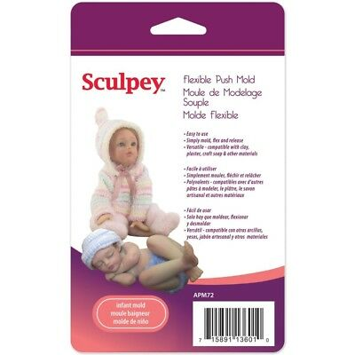 New Sculpey INFANT DOLL Flexible Push Mold for Polymer & Air Dry Clay Sculpting