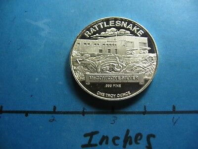 Mccoy / Cove Mine Rattlesnake Mining Operation 1994 Very Rare 999 Silver Coin #g