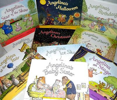 11 X Angelina Story Book Collection, HB, Katharine Holabird- Helen Craig. Puffin