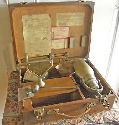 Rare 1934 Speedy Moisture Tester With Scale,tank & Gauge In  Wood Case