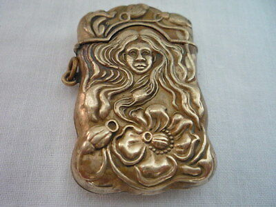 Decorative Embossed Vintage Metal Match Safe Case Vesta