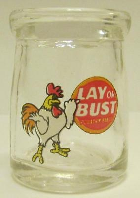 Lay Or Bust Advertising Glass Dairy Creamers