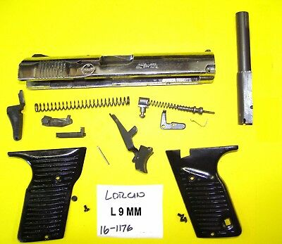 LORCIN L9 CHROME Gun Parts Lot All Parts Pictured All 4 One Price #16-1176