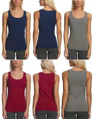 Felina Cotton Stretch Layering Tank Top 3-Pack Variety of Colors and Sizes NIB