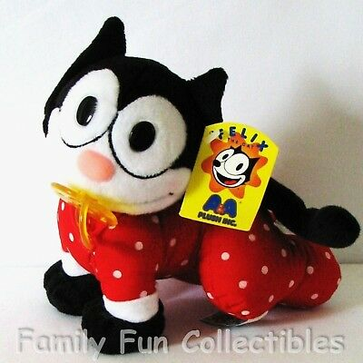 FELIX THE CAT~1990s AA Plush~Stuffed Doll~Pacifier Baby~Binky Figure Toy~NEW NOS