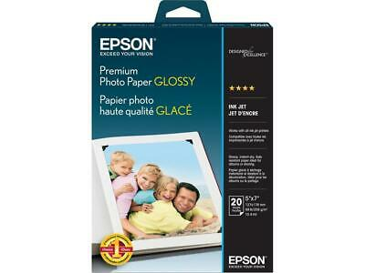 "Epson S041464 Photo Paper 5"" x 7"" - High Gloss - 92 Brightness - 20 Sheet - Whit"