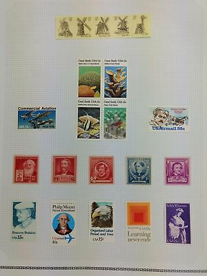USA Mint MH Album Page Of Stamps #V5930