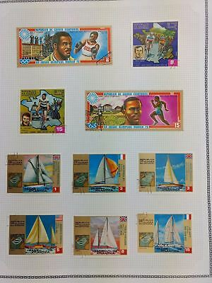 Equatorial Guinea, Sports Album Page Of Stamps #V5863