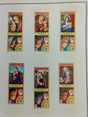 Equatorial Guinea, Christmas Album Page Of Stamps #V5865