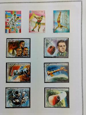 Equatorial Guinea, Olympics, Space Album Page Of Stamps #V5872