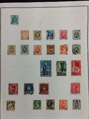 Belgium Album Page Of Stamps #V5787