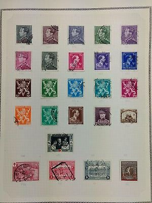 Belgium Album Page Of Stamps #V5784