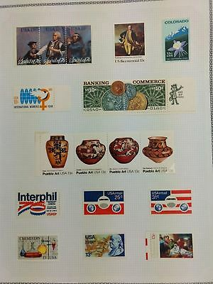 USA Mint MH Album Page Of Stamps #V5905