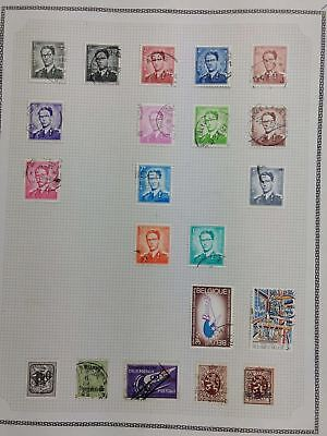 Belgium Album Page Of Stamps #V5791