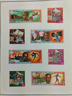 Equatorial Guinea, Sports Album Page Of Stamps #V5862