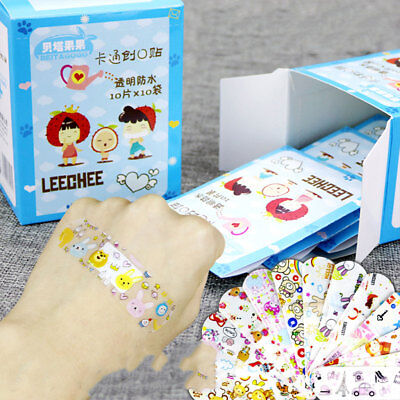100Pcs Cute Variety Decor Patterns Bandages Cartoon Band For Kids Children