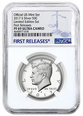 2017-S Silver Proof Kennedy Half Dollar From Limited Set NGC PF69 UC FR SKU50034