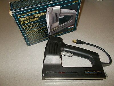 USA made Sears Craftsman 968481 9 68481 electric stapler brad nailer used tested