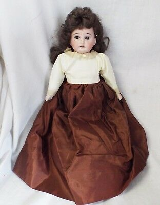 "Old Antique 12"" ARMAND MARSEILLE GERMANY 3200 Bisque Head Cloth Body DOLL"