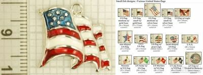 US (American) flag decorative fobs, various designs & watch chain options