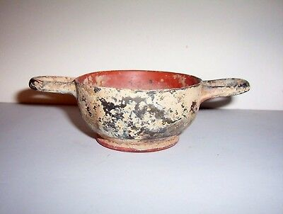 Ancient Greek Pottery Kylix c. 5th - 4th century B.C.    (2)