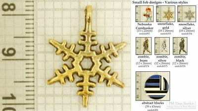 Assorted decorative fobs, various designs & watch chain options