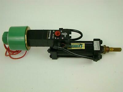 Lehigh Pneumatic Cylinder Automated Control Solenoid MD4125 Stroke 3