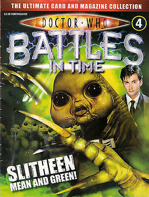 Doctor Who Battles In Time Issue 4<>Slitheen<>Magazine ~