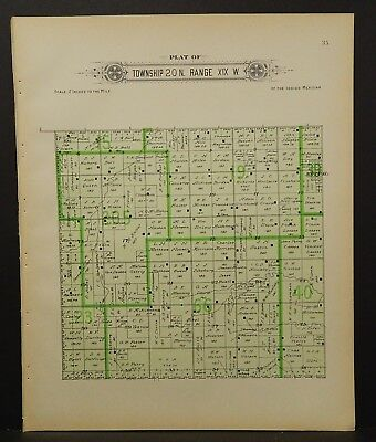 Oklahoma Woodward County Map Webster Township  1910  !R6#26