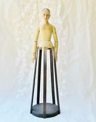 Vintage Style Beautiful Santos Angel Cage Doll 27 inches Wood Cream Dress New