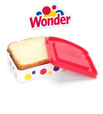 Wonder Bread Red Sandwich Packer School Work Lunch Box Plastic Container Seal
