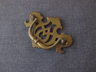 Vintage Solid Brass Filigree Drawer Dresser Pull Handle  Numbered         1